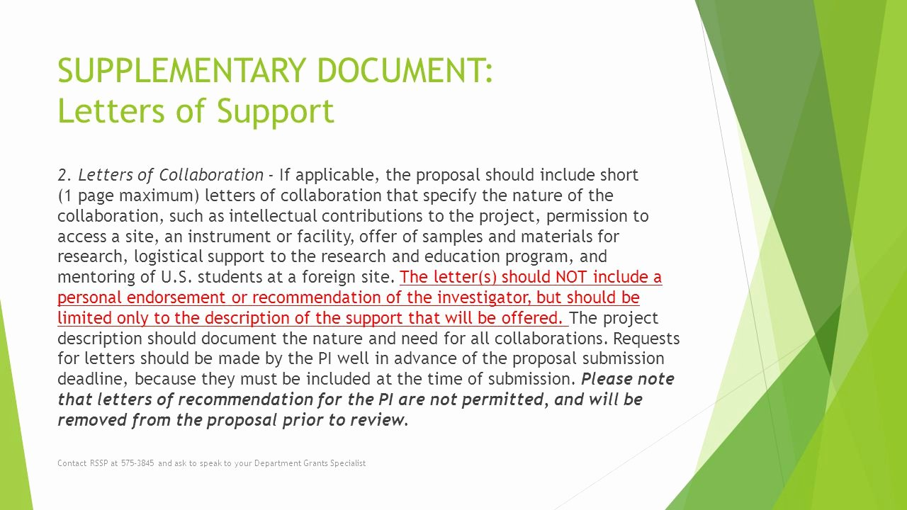 Sample Letter Of Collaboration Project Lovely solicitation Number Nsf Proposal Preparation Tips Ppt