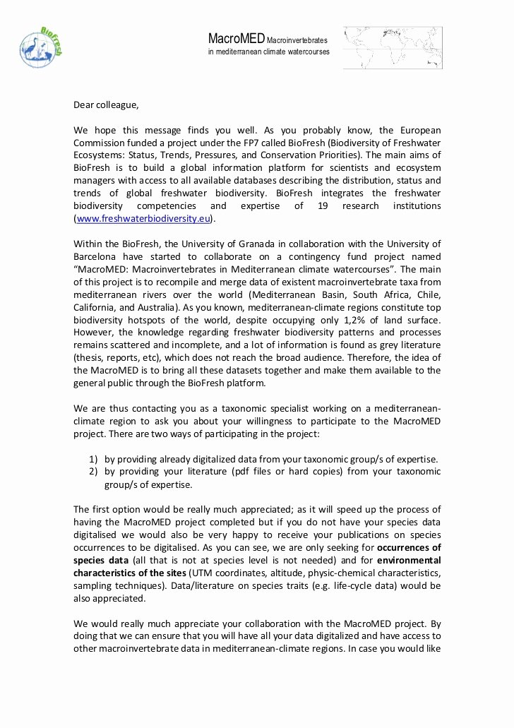 Sample Letter Of Collaboration Proposal Awesome Collaboration Letter Taxonomist