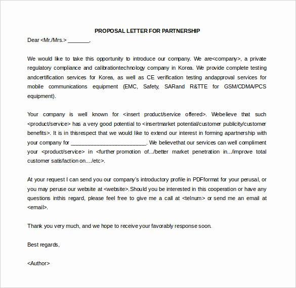 Sample Letter Of Collaboration Proposal Elegant 33 Proposal Letter Templates Doc Pdf