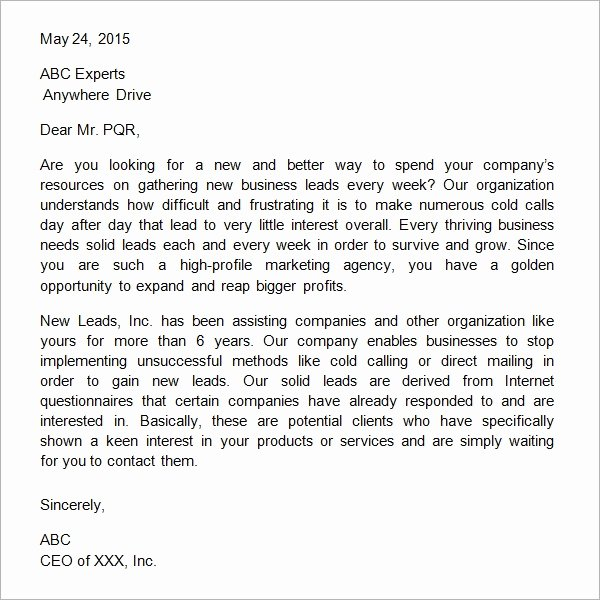Sample Letter Of Collaboration Proposal Fresh 38 Sample Business Proposal Letters Pdf Doc