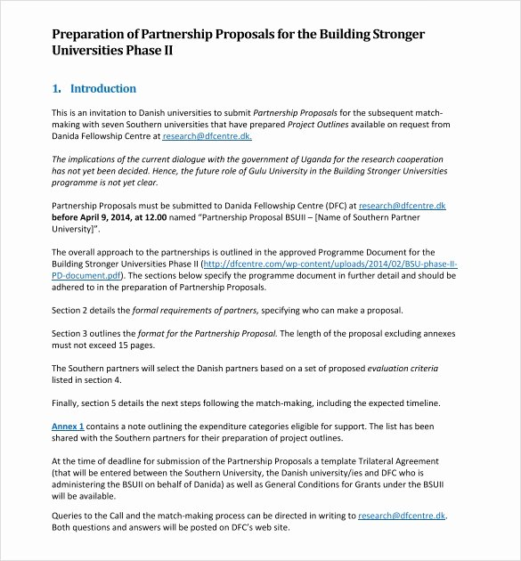 Sample Letter Of Collaboration Proposal Luxury Sample Partnership Proposal 13 Documents In Pdf