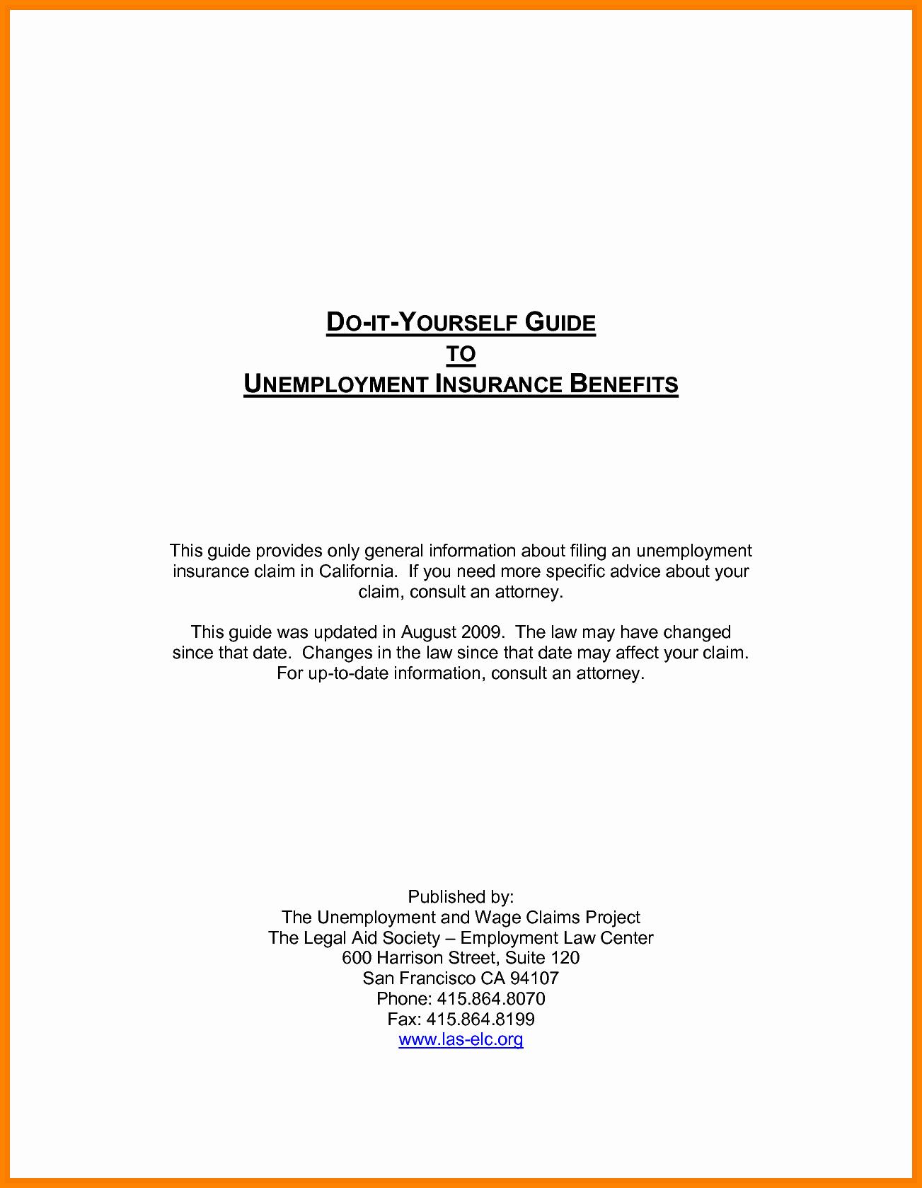 Sample Letter Protest Unemployment Benefits Fresh Appeal Letter for Unemployment Disqualification
