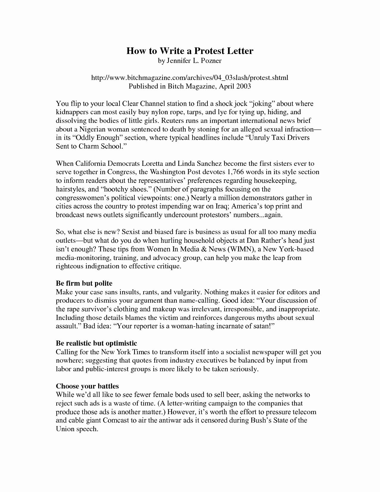 Sample Letter Protest Unemployment Benefits Lovely Best S Of Protest Letter format Unemployment
