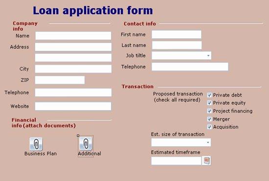 Sample Loan Application form Awesome Leah Marie Niluag