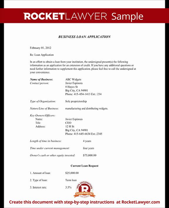Sample Loan Application form Fresh Business Loan Application form Getting A Business Loan
