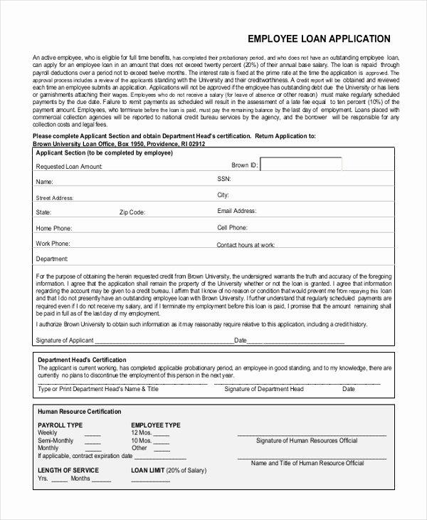Sample Loan Application form Fresh Sample Loan Application form 11 Free Documents In Word Pdf