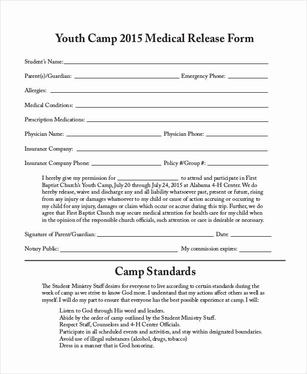 Sample Medical Release forms New 33 Medical Release forms In Pdf