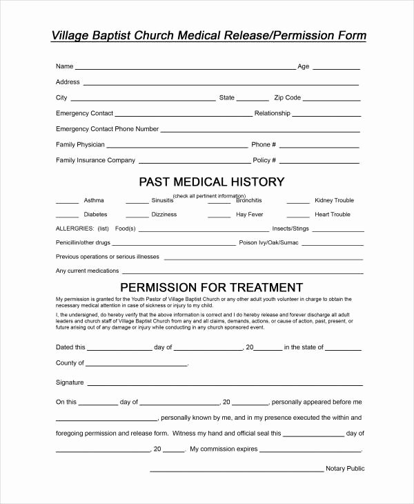 Sample Medical Release forms Unique 33 Medical Release forms In Pdf