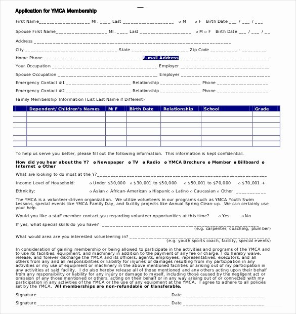 Sample Membership Application Elegant 15 Membership Application Templates – Free Sample