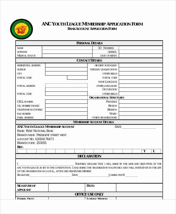Sample Membership Application Elegant 57 Application form formats