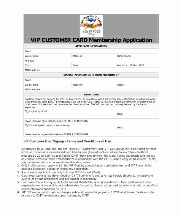 Sample Membership Application Fresh 12 Sample Membership Application forms