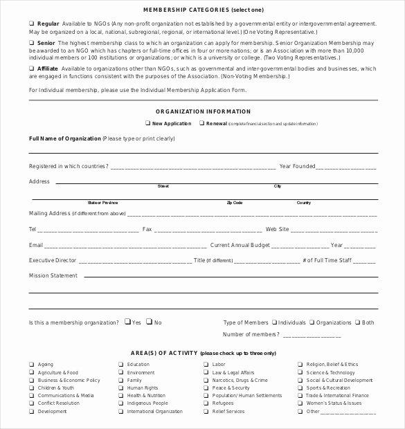 Sample Membership Application Lovely 15 Membership Application Templates – Free Sample