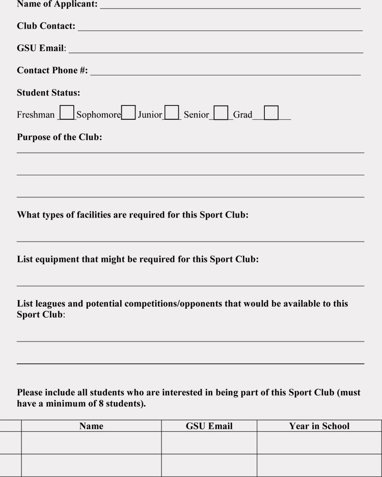Sample Membership Application Lovely Club Membership Application Registration form Templates