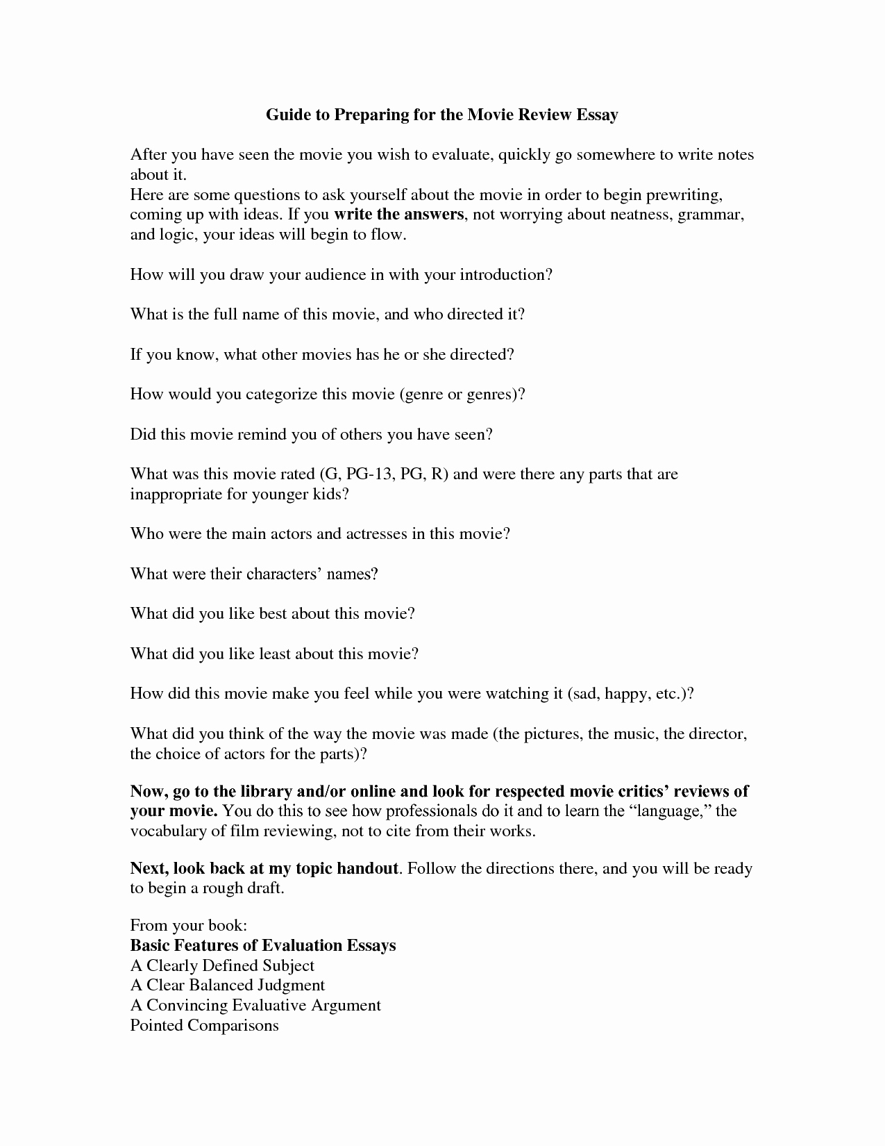 Sample Movie Review Essay New Best S Of Example A Critique Essay Art