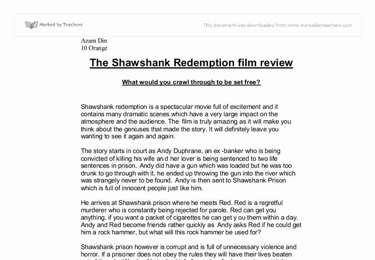 Sample Movie Review Essay Unique Sample Of A Movie Review Film Review Sample Essay format