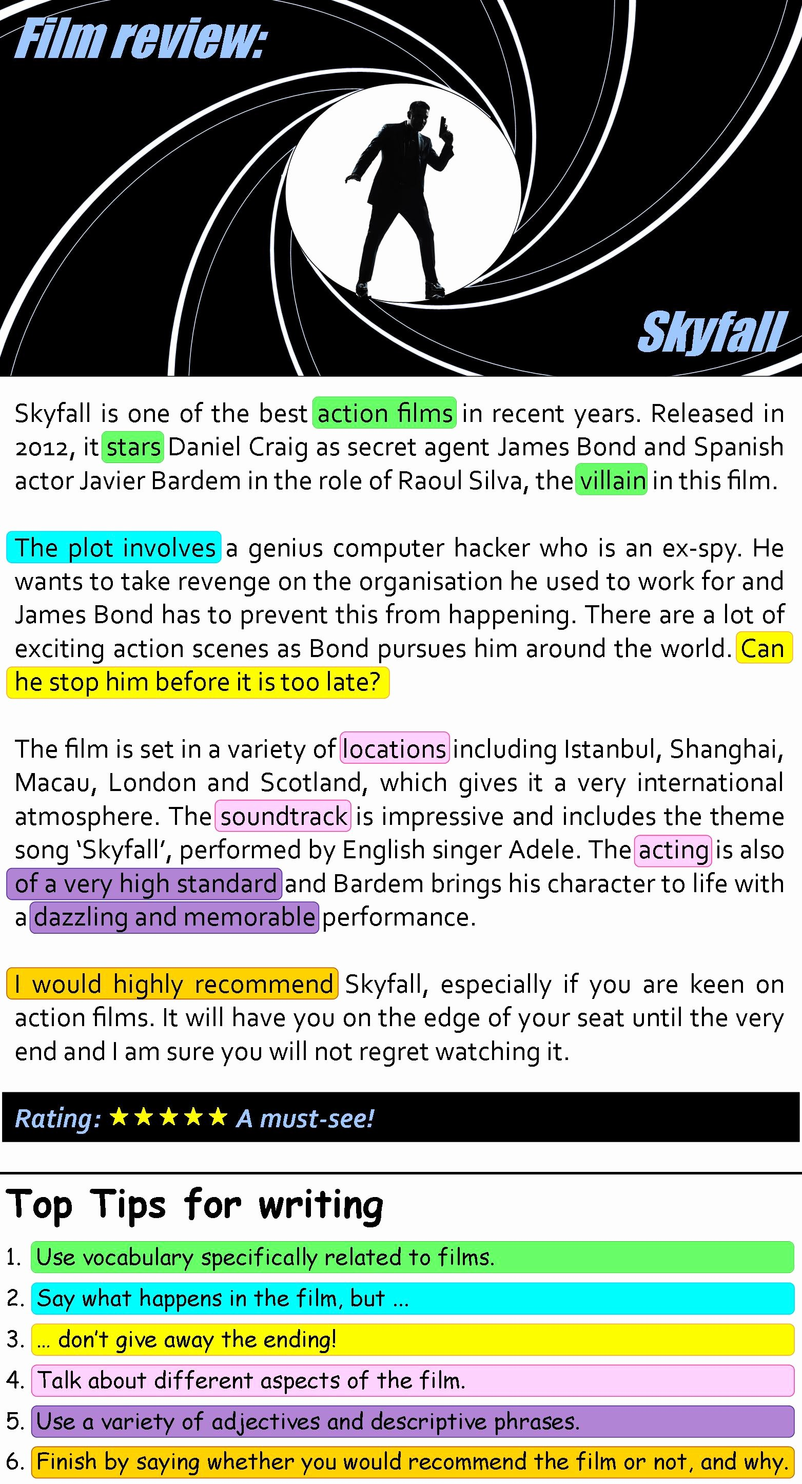 Sample Movie Review Essay Unique Skyfall Film Review