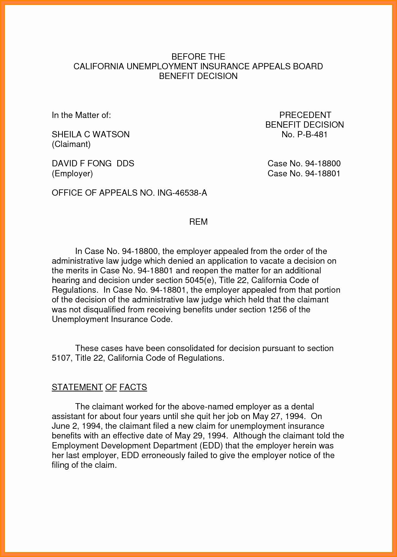 Sample Of Appeal Letter for Disqualification New 12 Sample Unemployment Appeal Letter