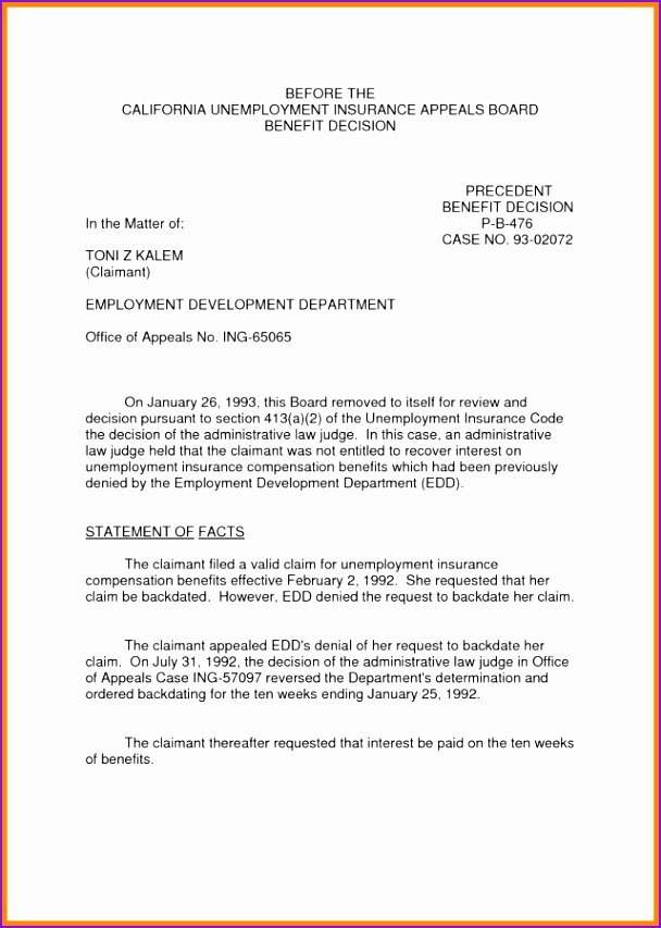 Sample Of Appeal Letter for Disqualification New Luxury Unemployment Appeal Letter — Kenbachor Kenbachor