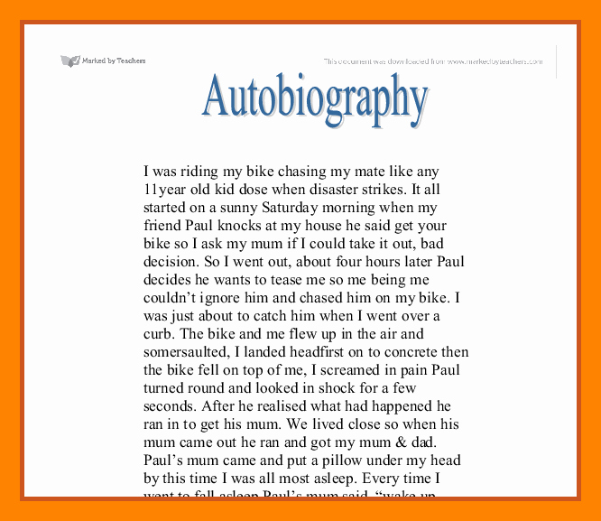 Sample Of Biographical Essay Best Of 8 Example Of Authobiography