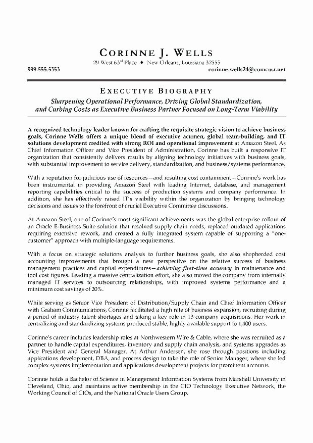 Sample Of Biographical Essay Inspirational ️ Military Biography Template How Does My Bio for the