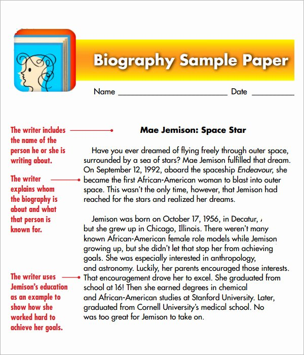 Sample Of Biographical Essay Luxury Biography Template 10 Download Documents In Pdf