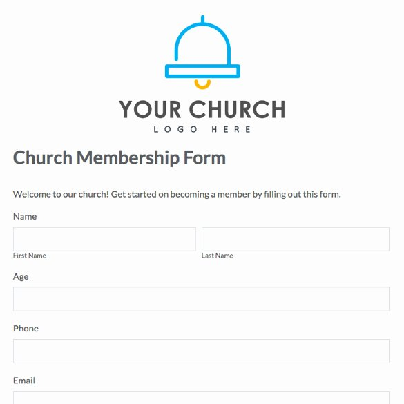Sample Of Membership form for An organization Beautiful 28 Of Church Profile Template