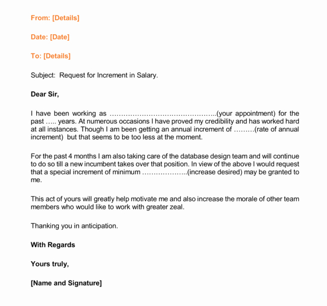 Sample Pay Increase Letter to Employee Beautiful Writing A Salary Increase Letter with 12 formats & Samples