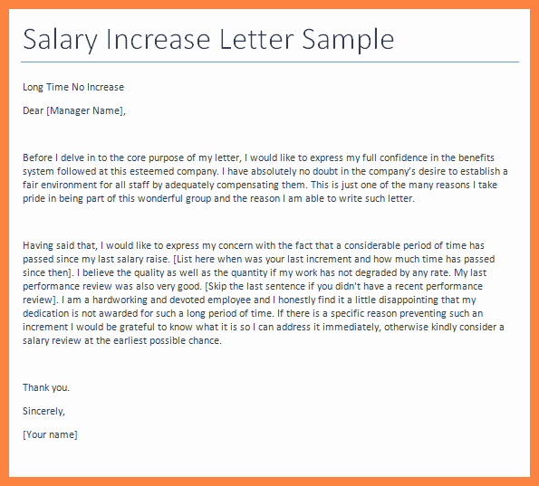 Sample Pay Increase Letter to Employee Best Of 5 Sample Salary Increase Letter to Employer