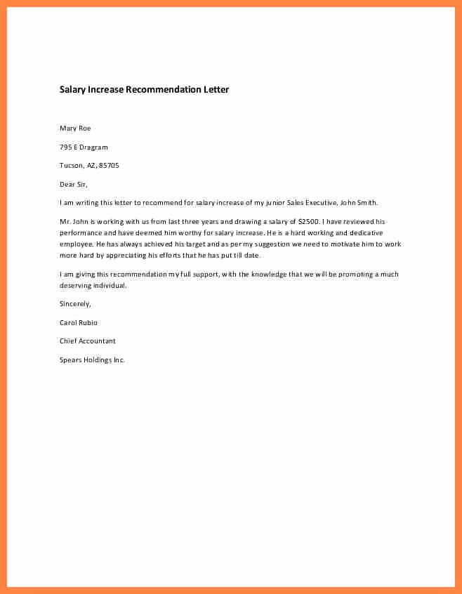 Sample Pay Increase Letter to Employee Inspirational 7 How to Write Salary Increase Letter