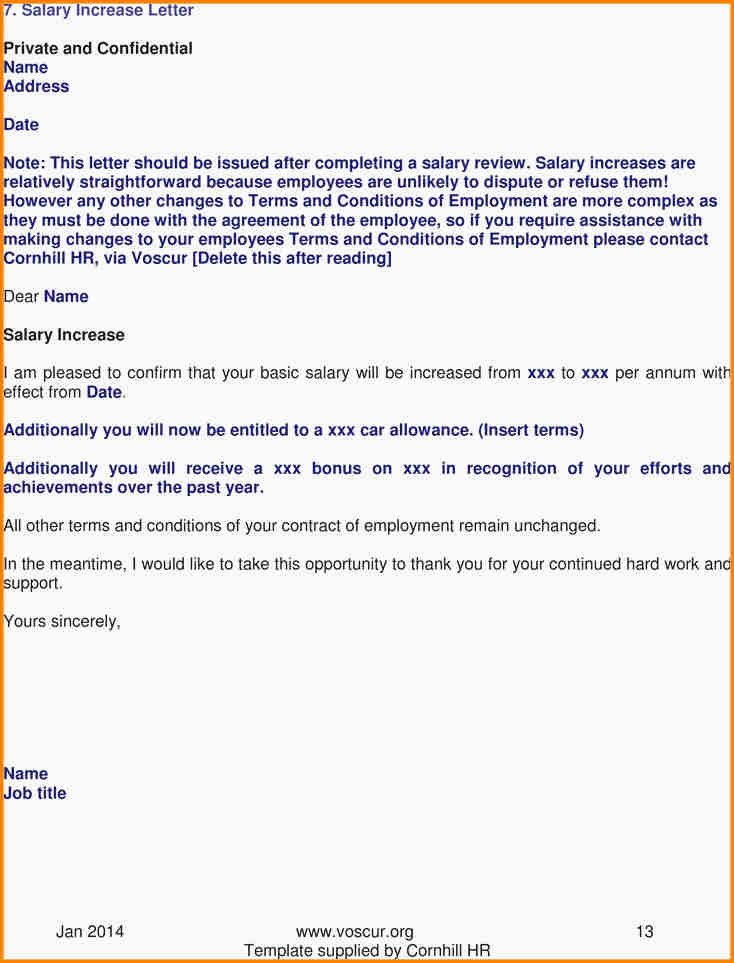 Sample Pay Increase Letter to Employee Luxury 8 Salary Increase Letter From Employer