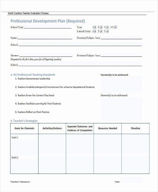 Sample Professional Development Plan Awesome 27 Development Plan Templates Pdf Word