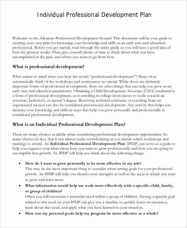 Sample Professional Development Plan Luxury 39 Development Plan Samples Pdf Word