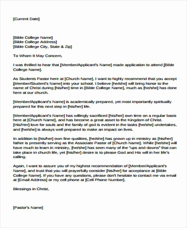 Sample Recommendation Letter for College Admission From Friend Awesome 8 College Re Mendation Letter Sample Free Sample