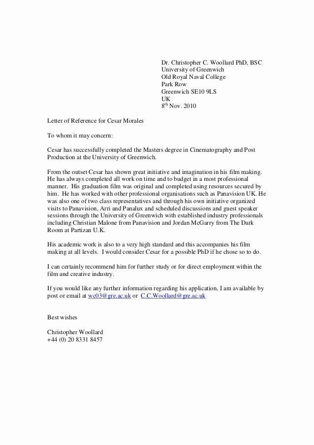 Sample Recommendation Letter for College Admission From Friend Beautiful Greenwich Reference Letter