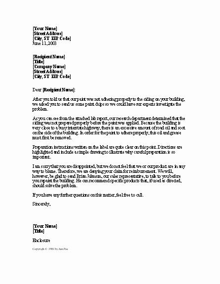 Sample Refund Letter to Customer Lovely Sample Business Letter Denying Deposit Refund