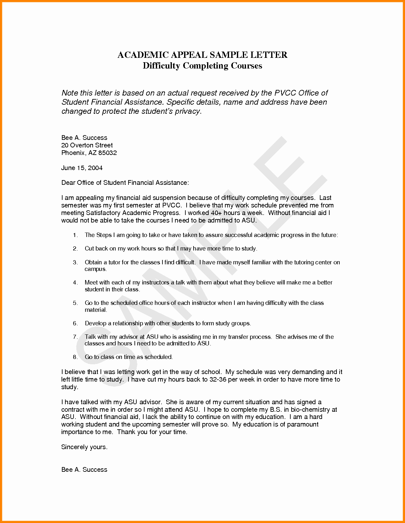 Sample Sap Appeal Letter Best Of 12 Termination Appeal Letter Sample