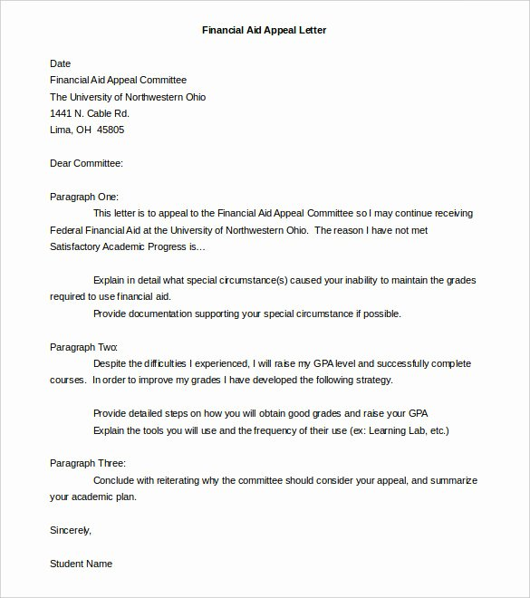 Sample Sap Appeal Letter Best Of 18 Appeal Letter Templates Pdf Doc