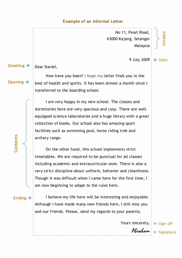 Sample Sap Appeal Letter Fresh 10 Informal Letter Sample