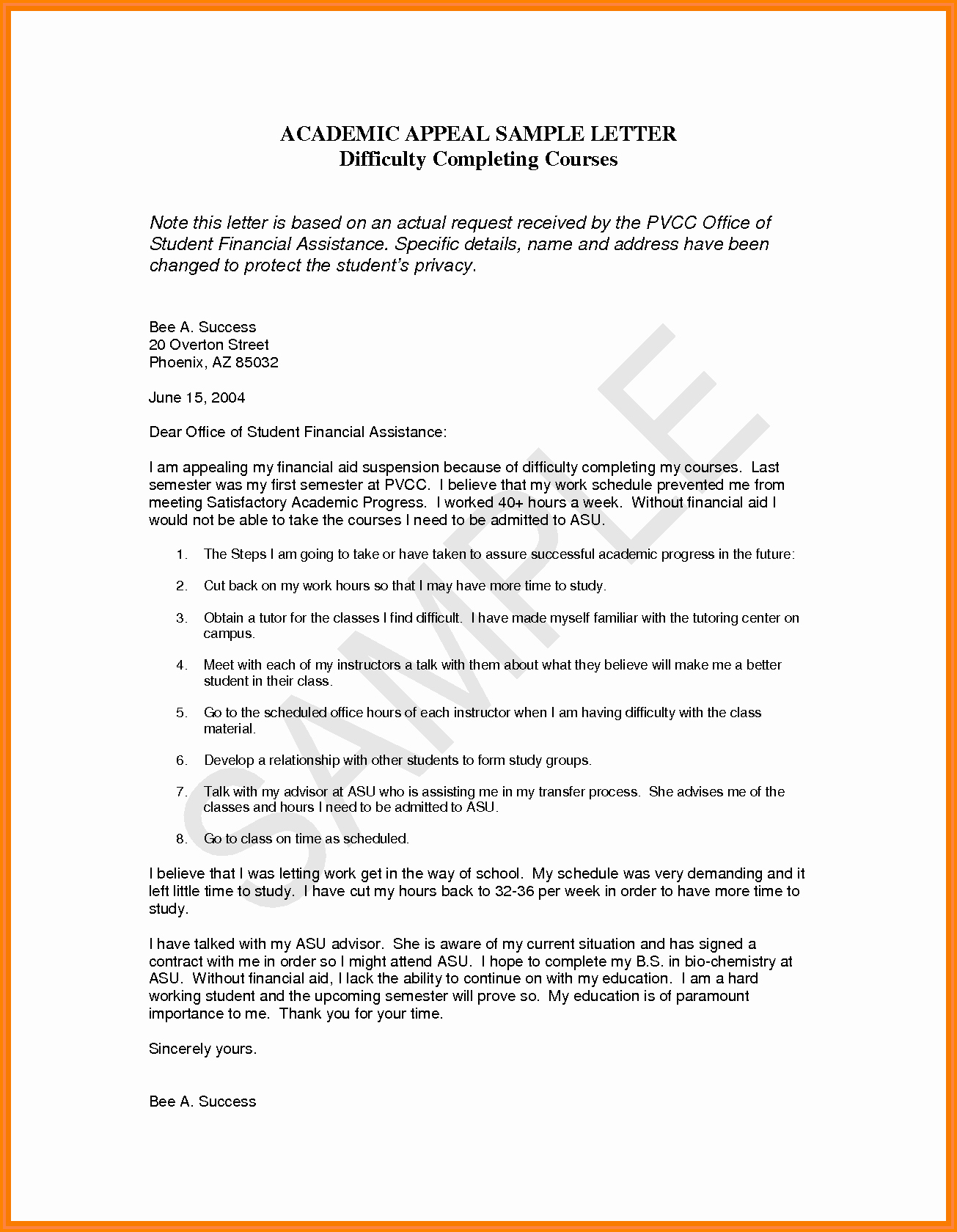 Sample Sap Appeal Letter Fresh 13 Financial Aid Appeal Essay Examples