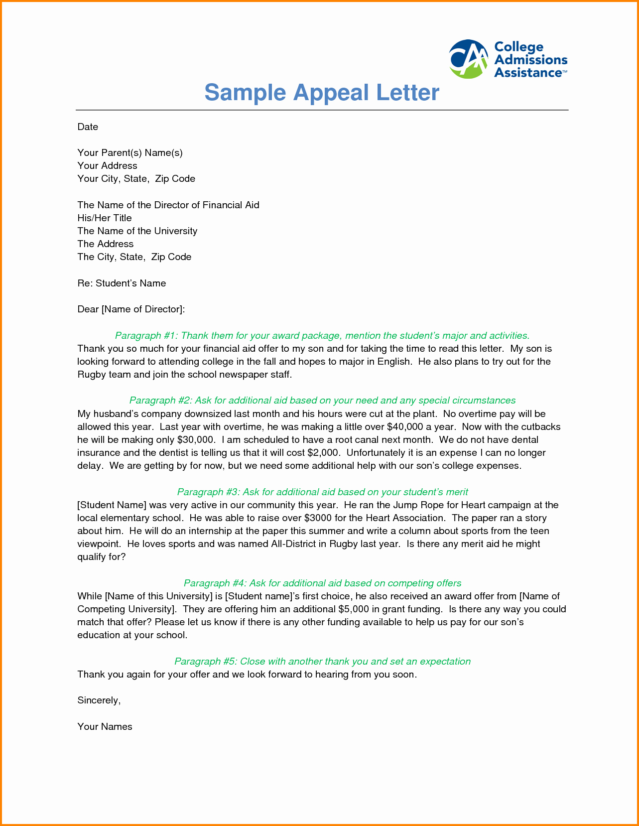 Sample Sap Appeal Letter Fresh 6 Sap Appeal Example Letter