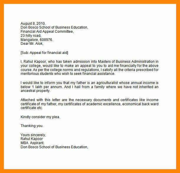 Sample Sap Appeal Letter Lovely 7 8 Sap Appeal Letter Example