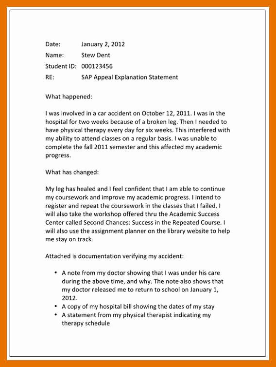 Sample Sap Appeal Letter Unique 4 5 Sap Appeal Letter