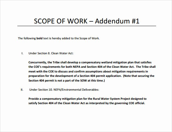 Sample Scopes Of Work Inspirational Scope Of Work 22 Dowload Free Documents In Pdf Word Excel