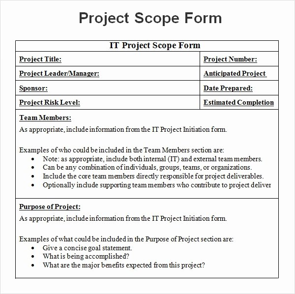 Sample Scopes Of Work Unique 8 Sample Project Scope Templates Pdf Word