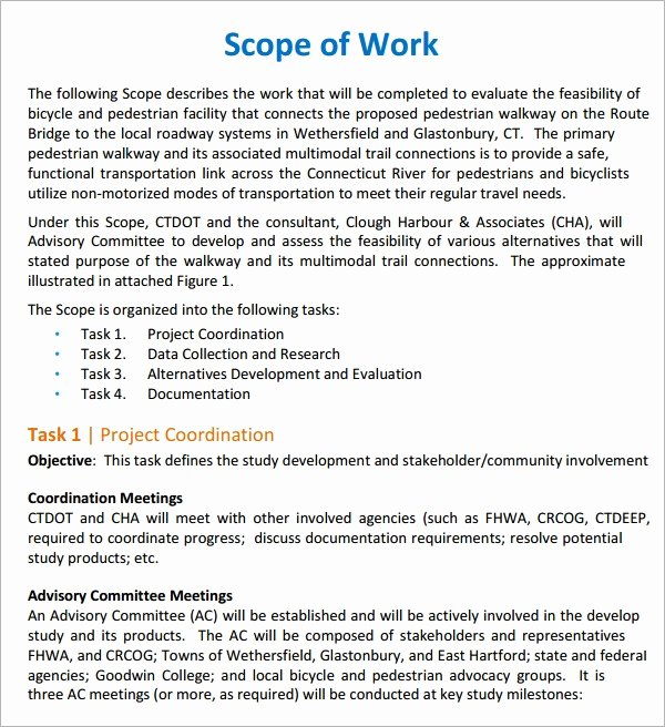Sample Scopes Of Work Unique Scope Of Work 22 Dowload Free Documents In Pdf Word Excel
