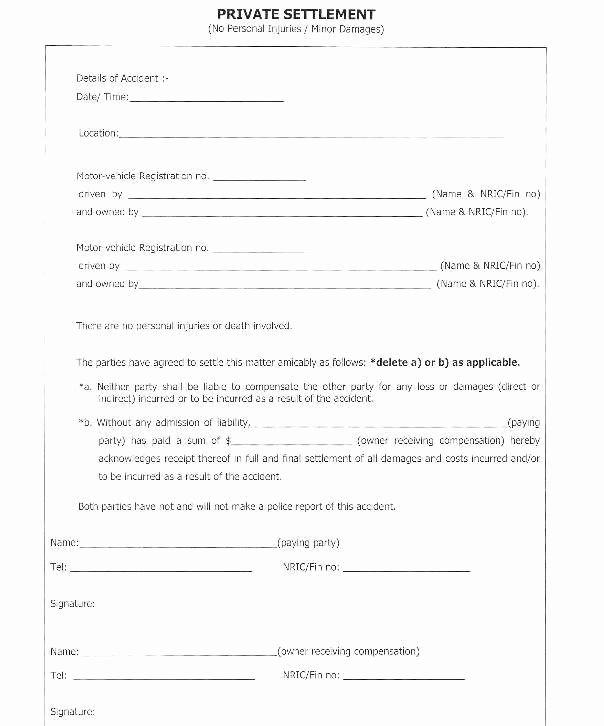 Sample Settlement Letter for Car Accident Fresh Payment Settlement Agreement Detail Car Accident