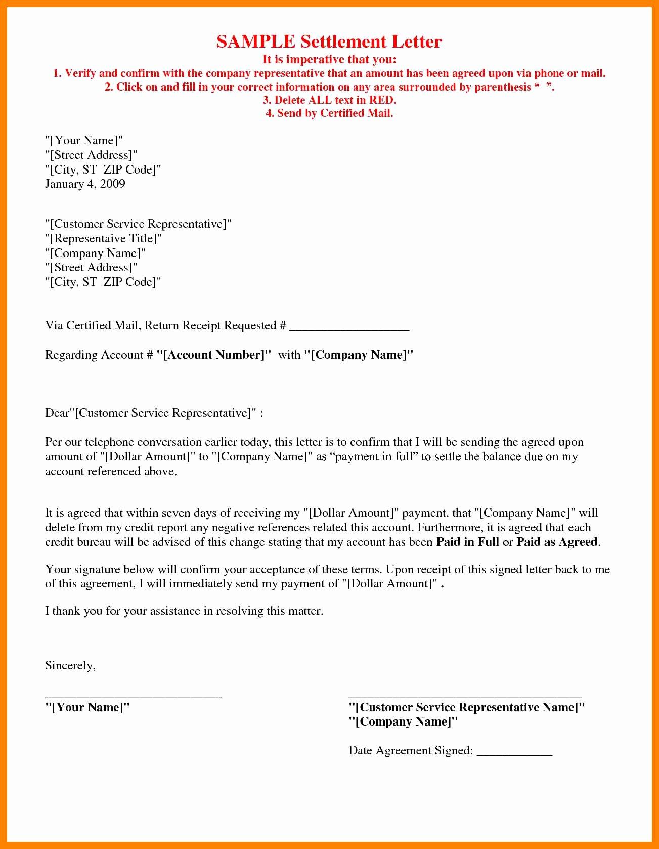 Sample Settlement Letter for Car Accident Luxury Car Accident Settlement Letter Template Samples