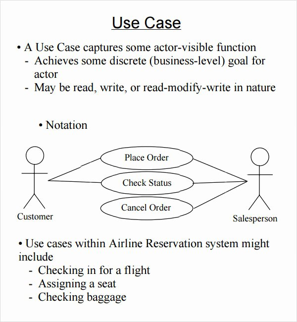 Sample Use Case Document Beautiful Sample Use Case 6 Documents In Word Pdf