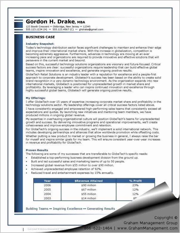 Sample Use Case Document Elegant Business Case Example Career Document Sharon Graham