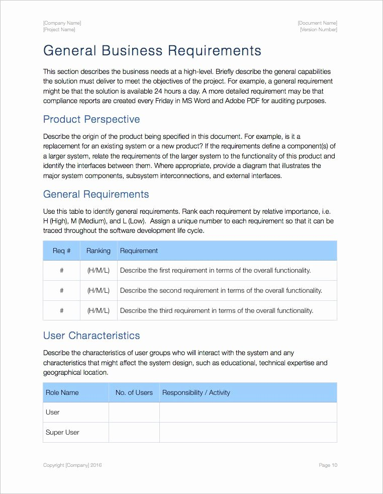 Sample Use Case Document Fresh Business Requirements Template Apple Iwork Pages Numbers